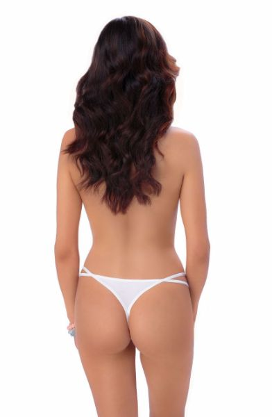 Picture of Roza Nicea Thong White ROZANICEATHOWHT