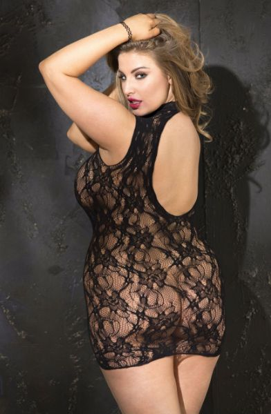 Picture of Shirley of Hollywood X90393 Chemise Black X90393BLK