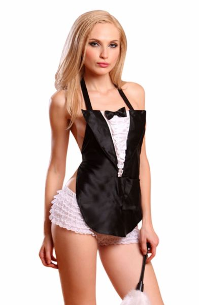 Picture of YesX YX100 Sexy Maid Black/White YESYX100