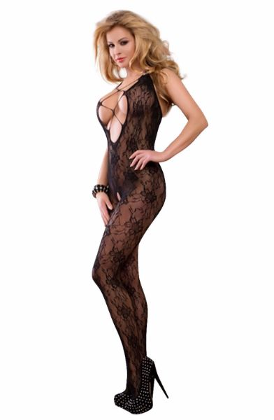 Picture of YesX YX403 Bodystocking Black YESYX403
