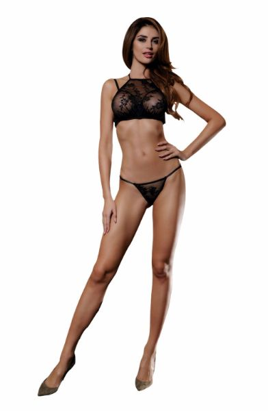Picture of YesX 2 Piece Bra Set Black YX523