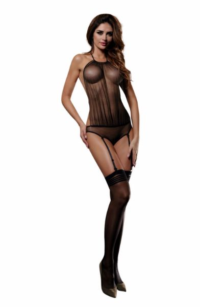 Picture of YesX Set With Stockings Black YX928