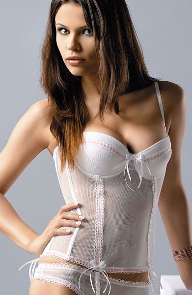Picture of Gracya Paola Corset White/Pink 131