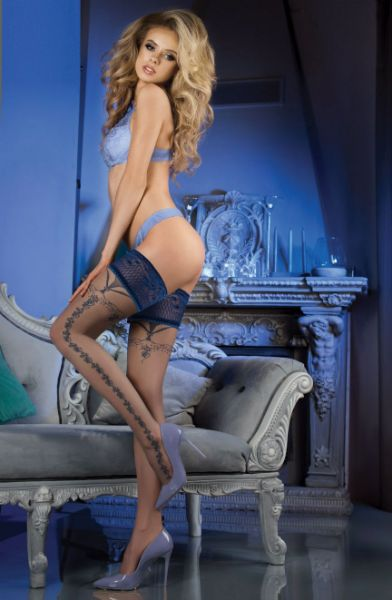 Picture of Ballerina 472 Hold Ups Grey BAL472GREY