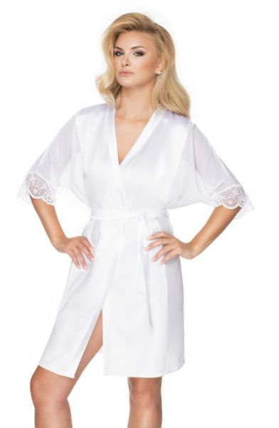 Picture of Irall Sharon Dressing Gown White IRSHARONDGOWNNWT