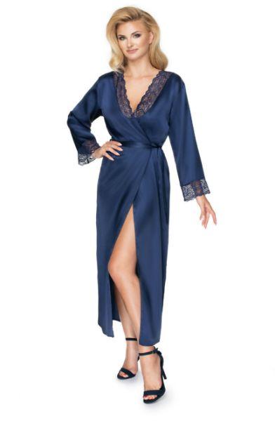 Picture of Irall Yoko Dressing Gown Navy Blue IRYOKODGOWNNAVYBLU