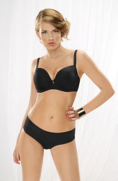 Picture of Corin Alma Moulded Smooth Cup Bra Black