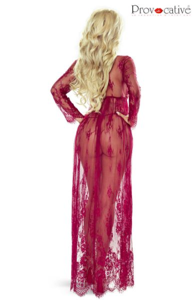 Picture of Provocative Elegant Gown Robe Wine PR7046