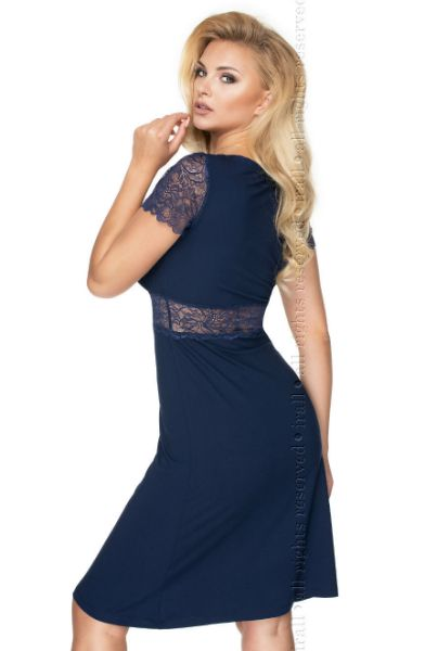 Picture of Irall Cameron Nightdress Navy Blue IRCAMNDNAVY