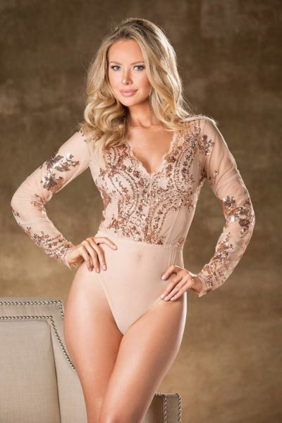 Picture of Shirley of Hollywood 31389 Sequined Bodysuit