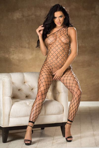 Picture of Shirley of Hollywood 90449 Black Bodystocking