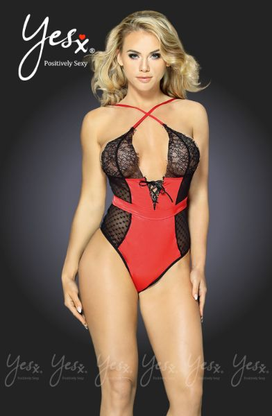 Picture of YesX YX231 Black & Red Teddy