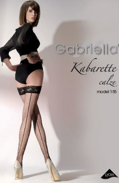 Picture of Gabriella Kabaretta Calze 155-223 Hold Ups Red